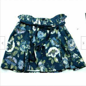 LC Lauren Conrad A Line Skirt Lg Floral Blue